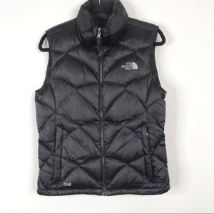 The North Face Black 550 Goose Down Vest Small S